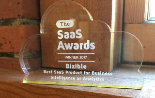 Bizible SaaS Awards Trophy