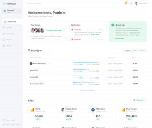 nexoya dashboard